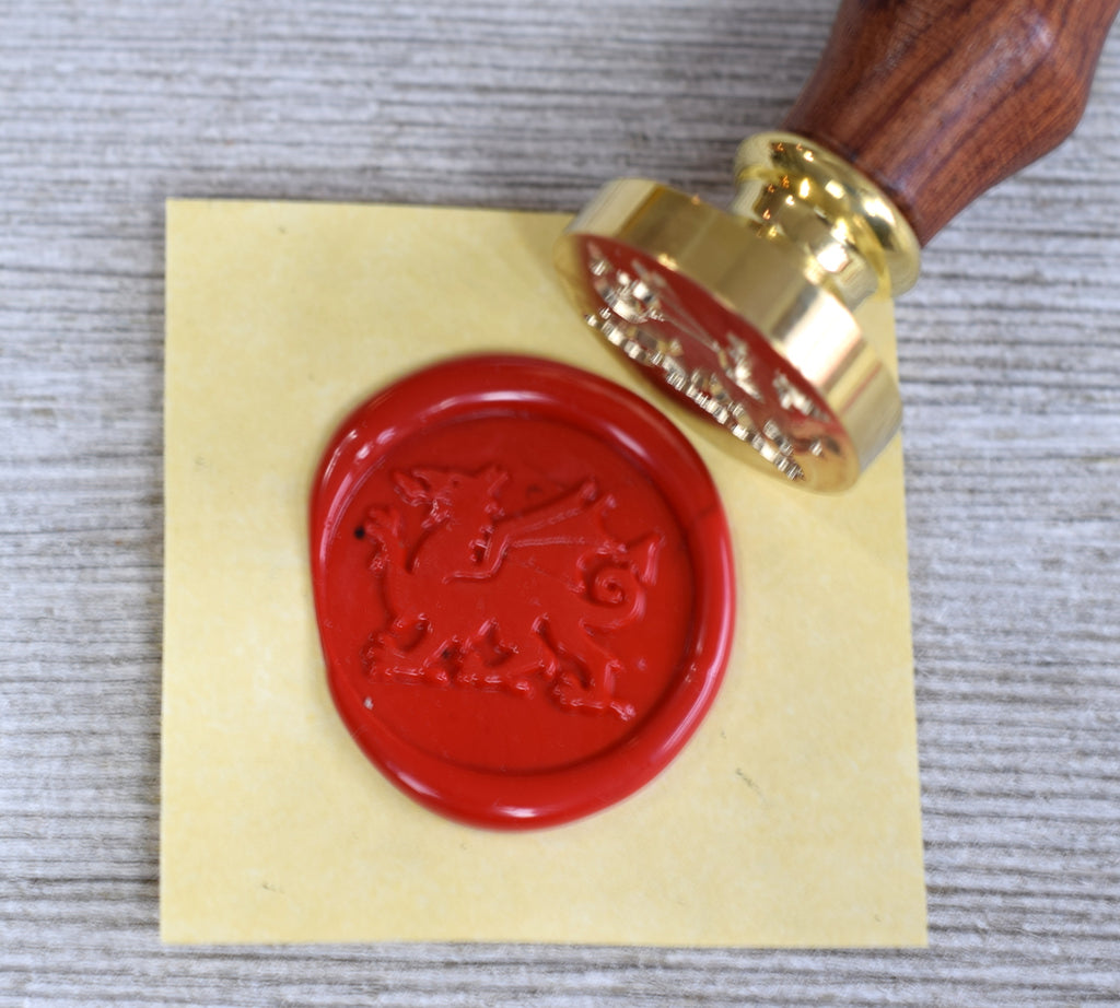 welsh dragon sealing wax stamp