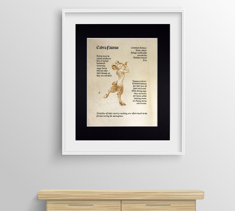 Mythological Beasts: Faun Satyr Fine Art Print