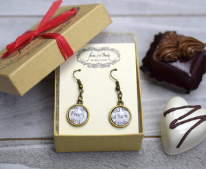 Frodo and Sam Earrings, Famous Pairs Literary Jewelry
