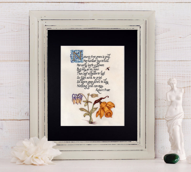 Robert Frost poem art print