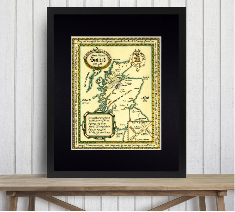Outlander map of Scotland