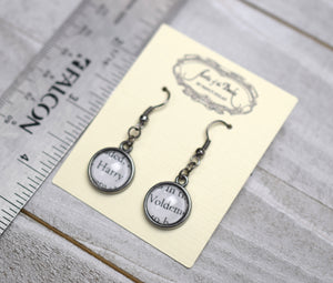 Harry and Voldemort Earrings, Famous Pairs Literary Jewelry