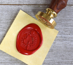 heart sealing wax stamp
