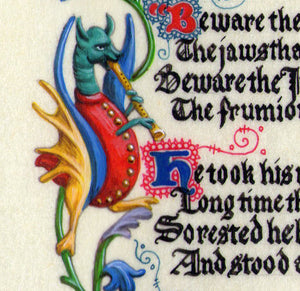 print detail marginalia grotesque with pipe