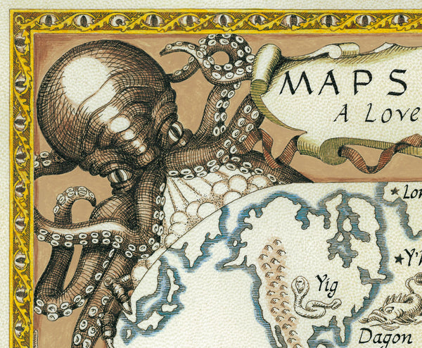 map detail Cthulhu face wind