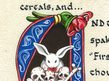 print detail killer bunny that rabbit's dynamite book of armaments calligraphy
