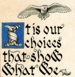 JK Rowling quote print Hedwig owl