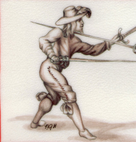 art detail rapier and dagger after Alfieri fencing manual