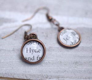 Dr Jekyll and Mr Hyde Earrings, Famous Pairs Literary Jewelry