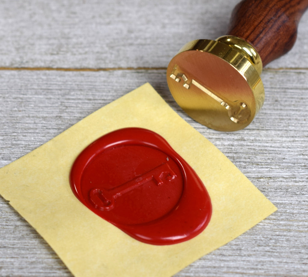 skeleton key wax seal stamp