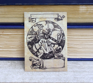 Medieval Knight Book Plates: Set of 24 Ex Libris Self-Adhesive Labels