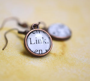 Link and Zelda Earrings, Gamer Geek Jewelry