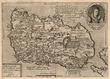 historical map of Ireland 17th century