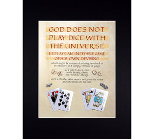 God Does Not Play Dice, Gaiman and Pratchett Quote Fine Art Print