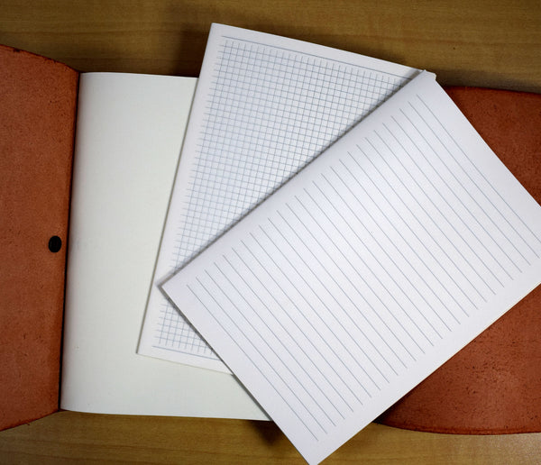 Paper options: blank, lined, or graph paper