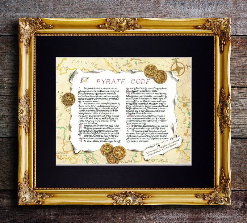 pirate code art print