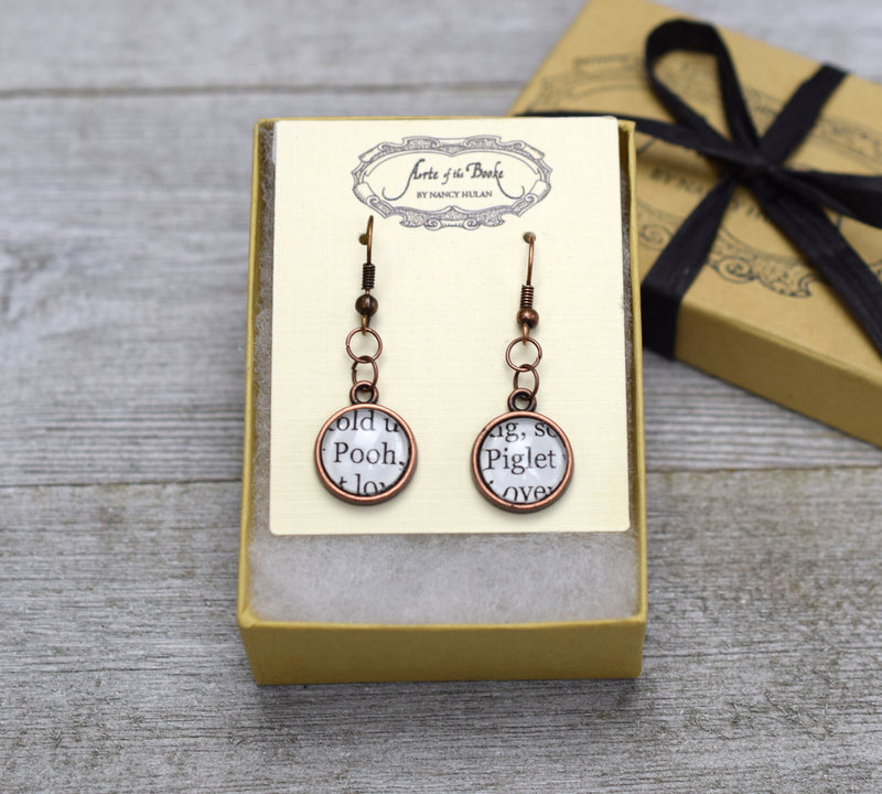 pooh and piglet earrings