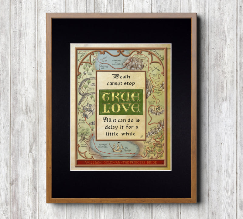 Princess Bride True Love Quote Fine Art Print
