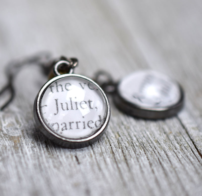 Shakespeare Romeo and Juliet Earrings, Famous Pairs Literary Jewelry