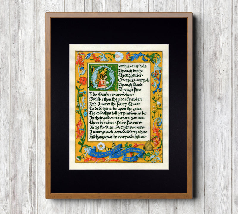 midsummer night's dream monologue art print