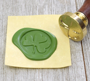 Irish Shamrock Wax Seal Stamp with Optional Handle
