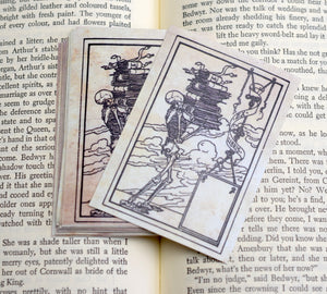 Skeleton Book Plates: Set of 24 Self-Adhesive Ex Libris Labels