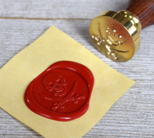 skull and swords wax seal stamp