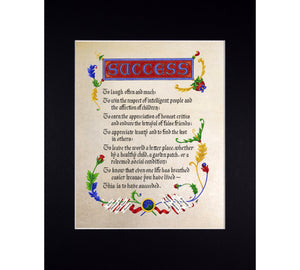 """Success"" Inspiration Poem by Ralph Waldo Emerson"