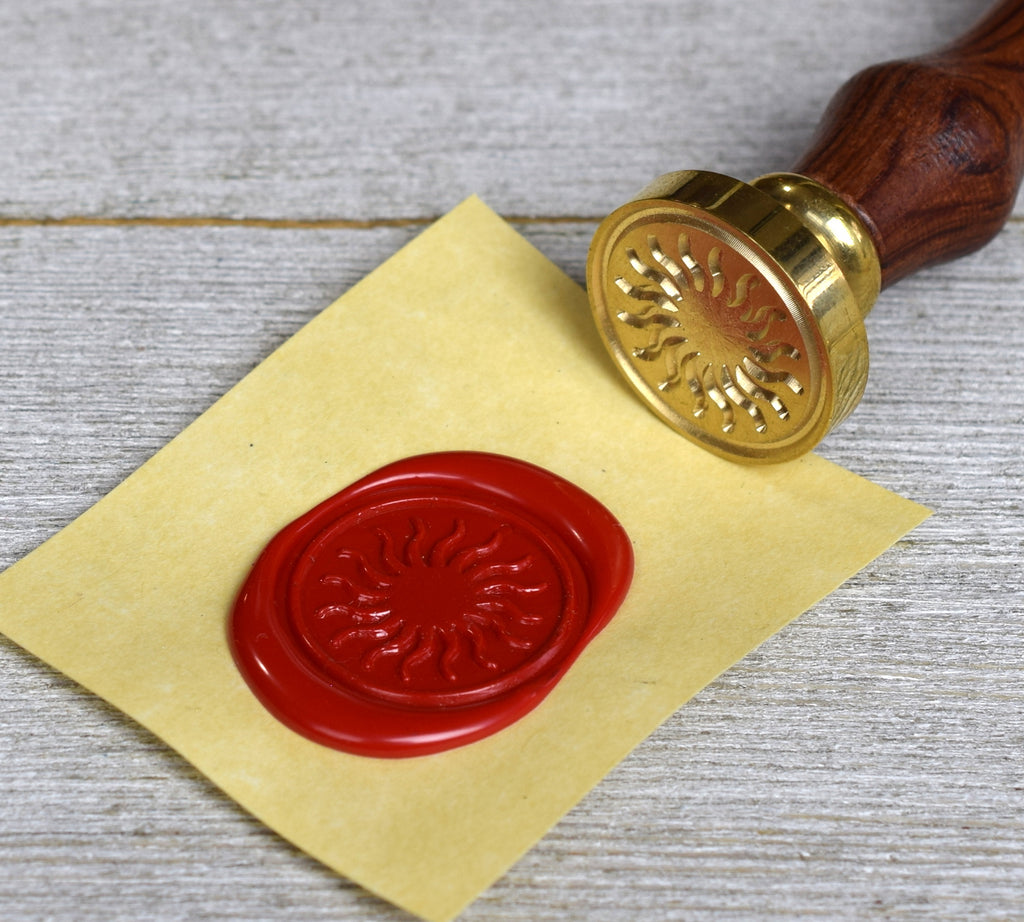shining sun wax seal stamp