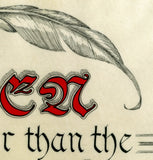image detail feather and calligraphy