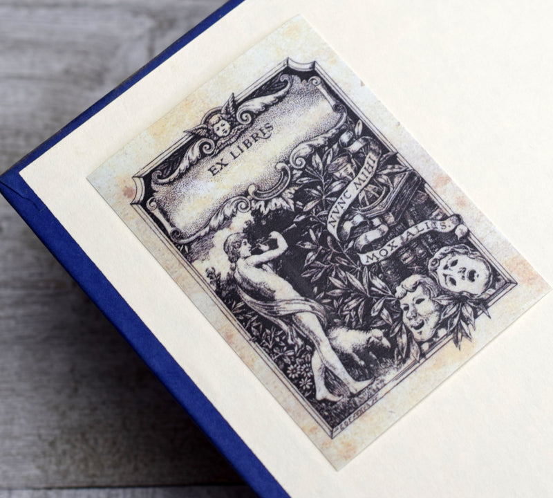 Ex Libris Book Plates with Theatre Masks: Set of 24 Self-Adhesive Labels