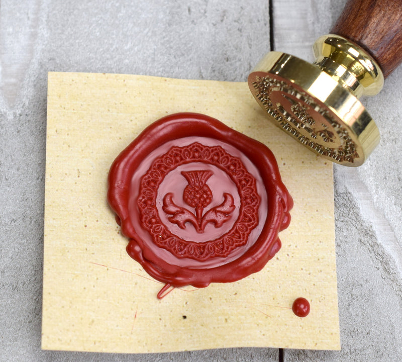 Scottish Thistle Brass Seal Stamp for Wax Seals