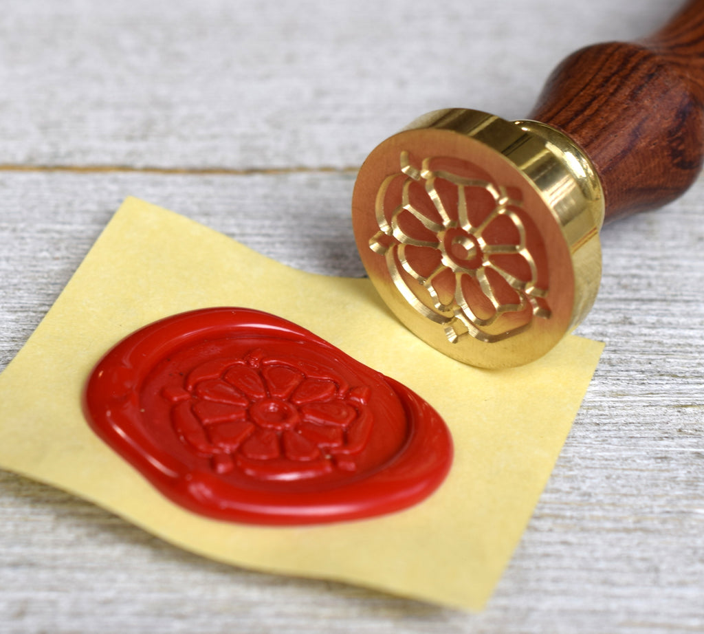 tudor rose wax seal stamp