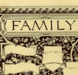 calligraphy detail family heraldic family tree print