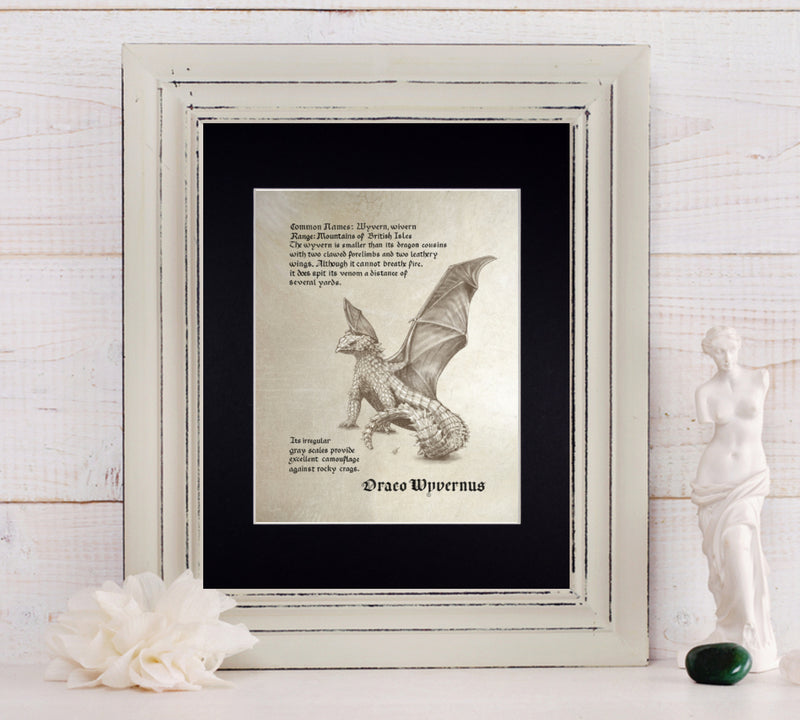 Mythological Beasts: Wyvern Fine Art Print