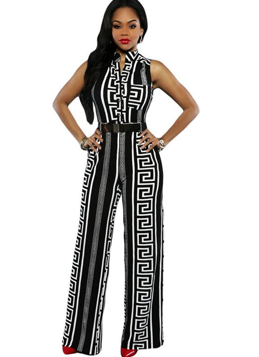 Belted Long Jumpsuit - Bougie Dame