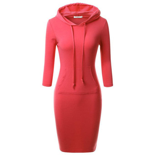 Bodycon Pocket Hoodie - Bougie Dame