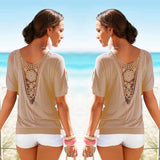 Summer Lace Back Blouse - Bougie Dame