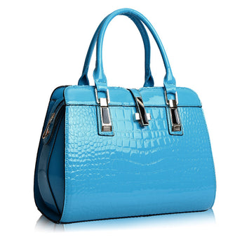 Colored Croc Satchel - Bougie Dame