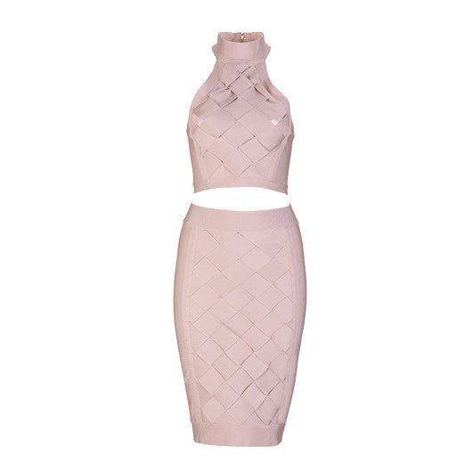 New Sleeveless Two Piece Sexy Bodycon Bandage Summer Dress - Bougie Dame