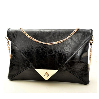 Gold Chain Envelope Clutch - Bougie Dame