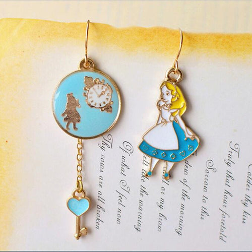 Alice in Wonderland Earring Set