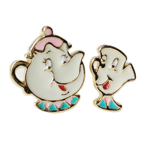 Beauty and the Beast- Chip Stud Earrings