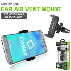 Cellet Premium Air Vent Smartphone Mount with 360 Degree Rotation & Tightening Knob - Mobile Accessories USA