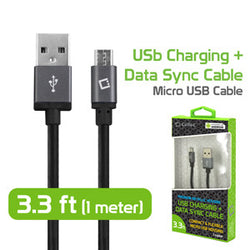 Micro USB Cable, Cellet 3.3ft USB-A 2.0 to Micro USB Charging + Data Sync Cable for Samsung, HTC, Android, Nokia and More - Mobile Accessories USA
