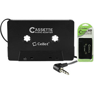 Cellet Cassette Audio Adapter for iPhones iPods Android Phones MP3 Players - Mobile Accessories USA