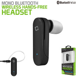 Bluetooth Headset, Cellet Bantam Bluetooth V3.0 Mono Headset Black - Mobile Accessories USA