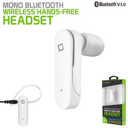 Bluetooth Headset, Cellet Bantam Bluetooth V3.0 Mono Headset White - Mobile Accessories USA