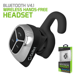 Cellet Ultra-Compact Bluetooth V4.1 Mono Hands-Free Headset - Black - Mobile Accessories USA