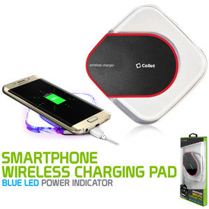 Wireless Charging Pad, Cellet LED Wireless Charging Pad - Black - Mobile Accessories USA